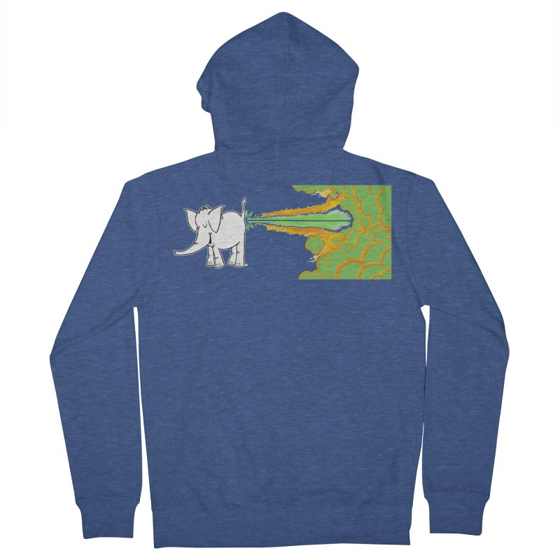 Laser Cy Women's French Terry Zip-Up Hoody by Cy The Elephart's phArtist Shop