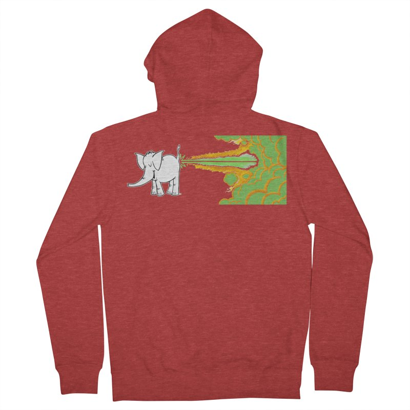Laser Cy Men's French Terry Zip-Up Hoody by Cy The Elephart's phArtist Shop