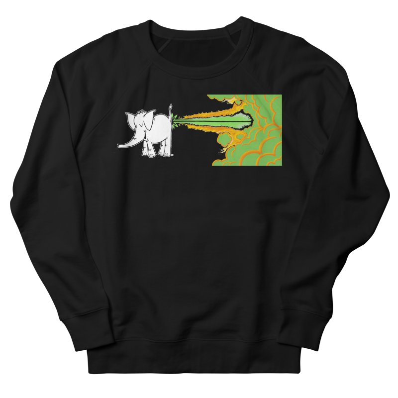 Laser Cy Men's French Terry Sweatshirt by Cy The Elephart's phArtist Shop