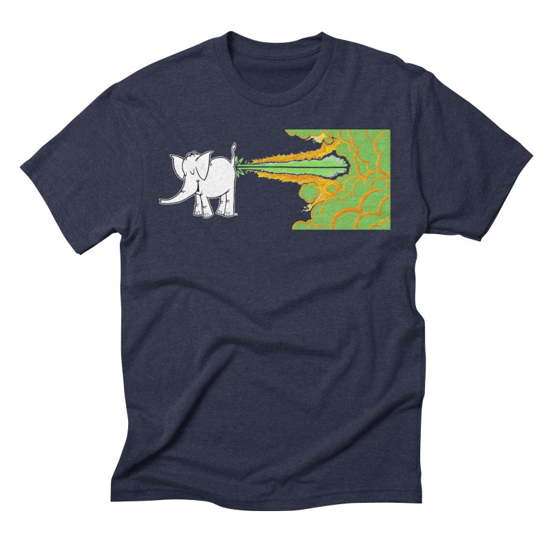 Laser Cy Men's Triblend T-Shirt by Cy The Elephart's phArtist Shop