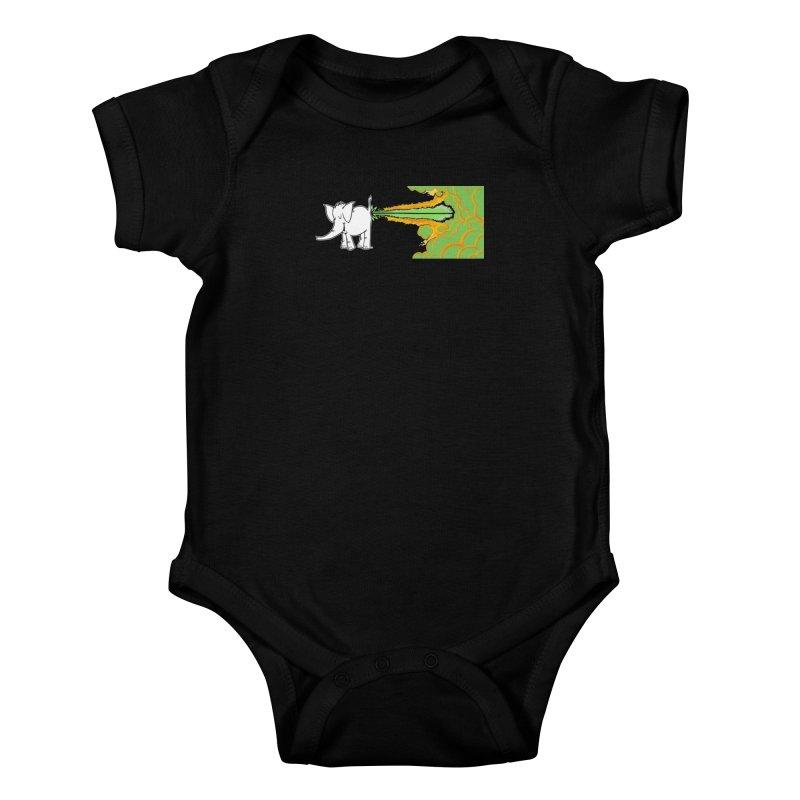 Laser Cy Kids Baby Bodysuit by Cy The Elephart's phArtist Shop