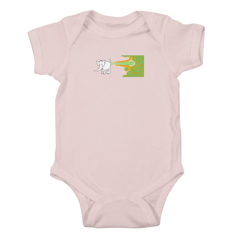 Laser Cy Kids Baby Bodysuit by Cy The Elephart's phArtist Shop