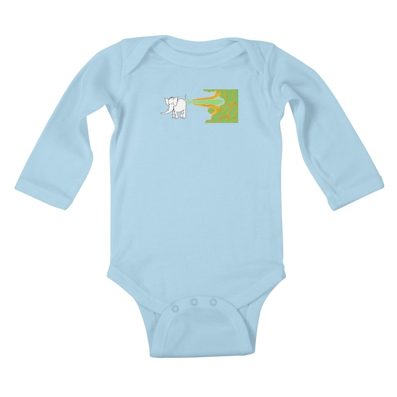 Laser Cy Kids Baby Longsleeve Bodysuit by Cy The Elephart's phArtist Shop