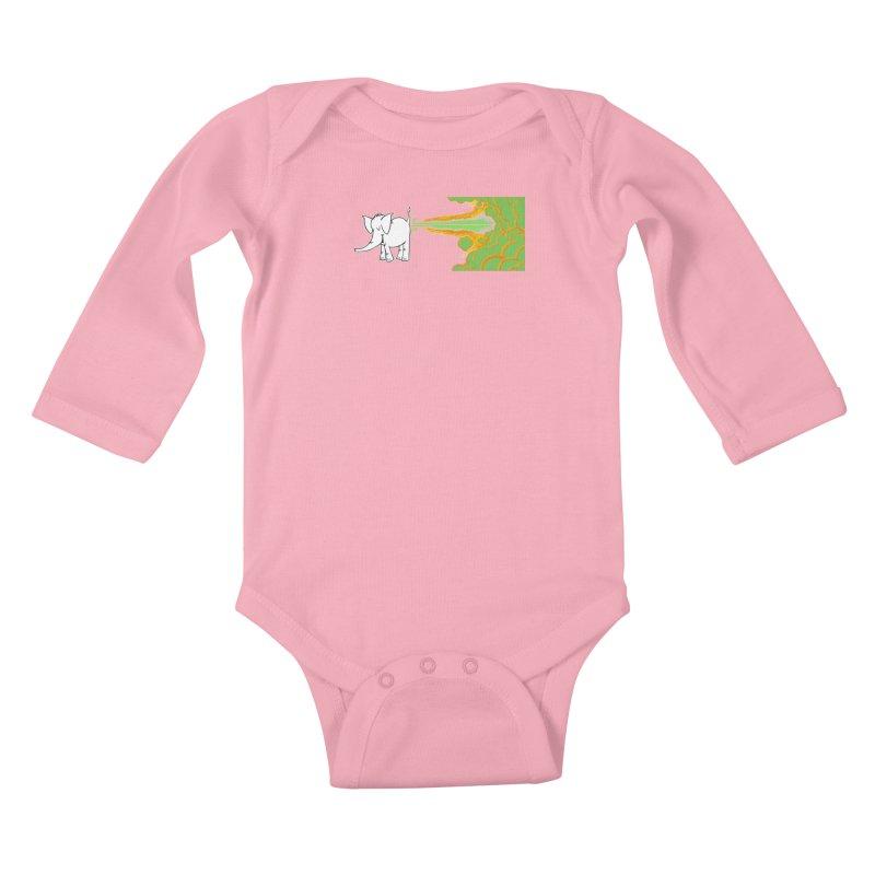 Laser Cy Kids Baby Longsleeve Bodysuit by Cy The Elephart's phArtist Shop