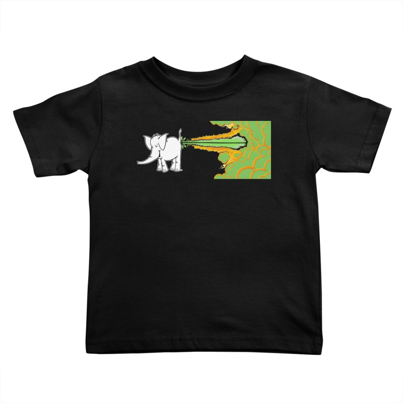 Laser Cy Kids Toddler T-Shirt by Cy The Elephart's phArtist Shop