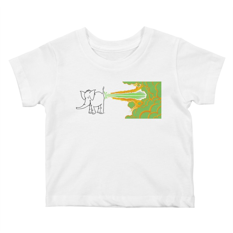Laser Cy Kids Baby T-Shirt by Cy The Elephart's phArtist Shop
