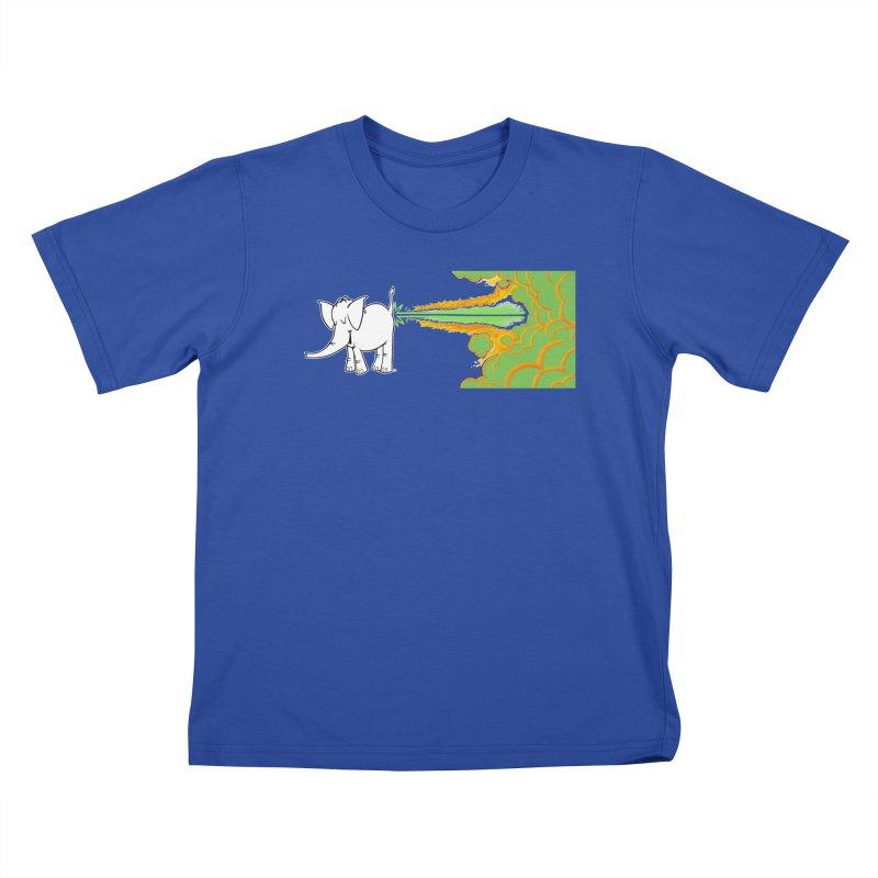 Laser Cy Kids T-Shirt by Cy The Elephart's phArtist Shop