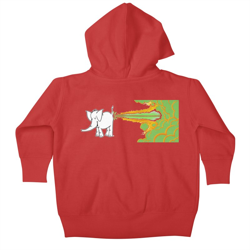 Laser Cy Kids Baby Zip-Up Hoody by Cy The Elephart's phArtist Shop