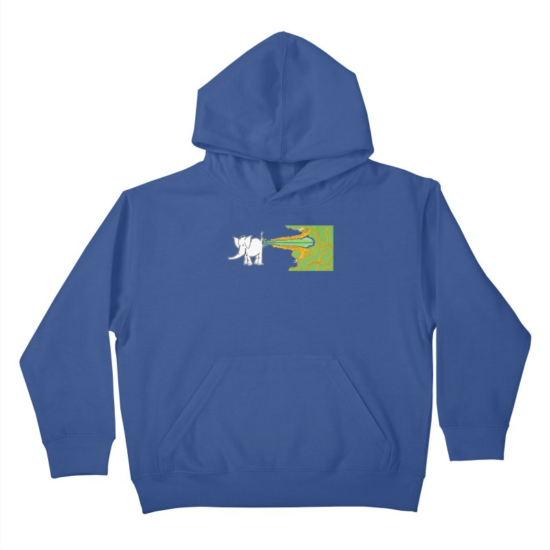 Laser Cy Kids Pullover Hoody by Cy The Elephart's phArtist Shop
