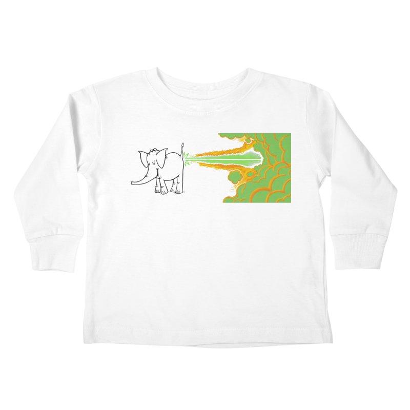 Laser Cy Kids Toddler Longsleeve T-Shirt by Cy The Elephart's phArtist Shop