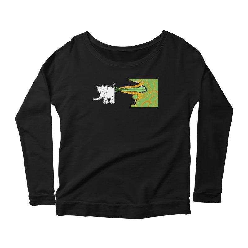 Laser Cy Women's Scoop Neck Longsleeve T-Shirt by Cy The Elephart's phArtist Shop