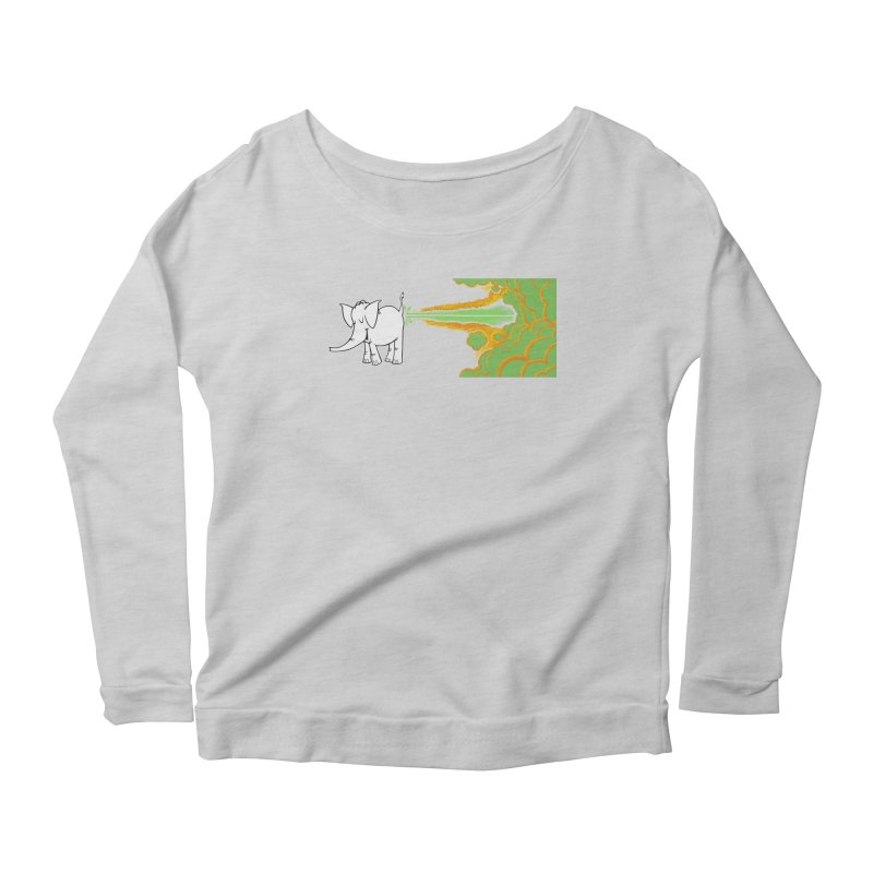 Laser Cy Women's Scoop Neck Longsleeve T-Shirt by Cy The Elephart's phArtist Shop