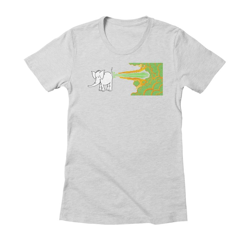 Laser Cy Women's Fitted T-Shirt by Cy The Elephart's phArtist Shop
