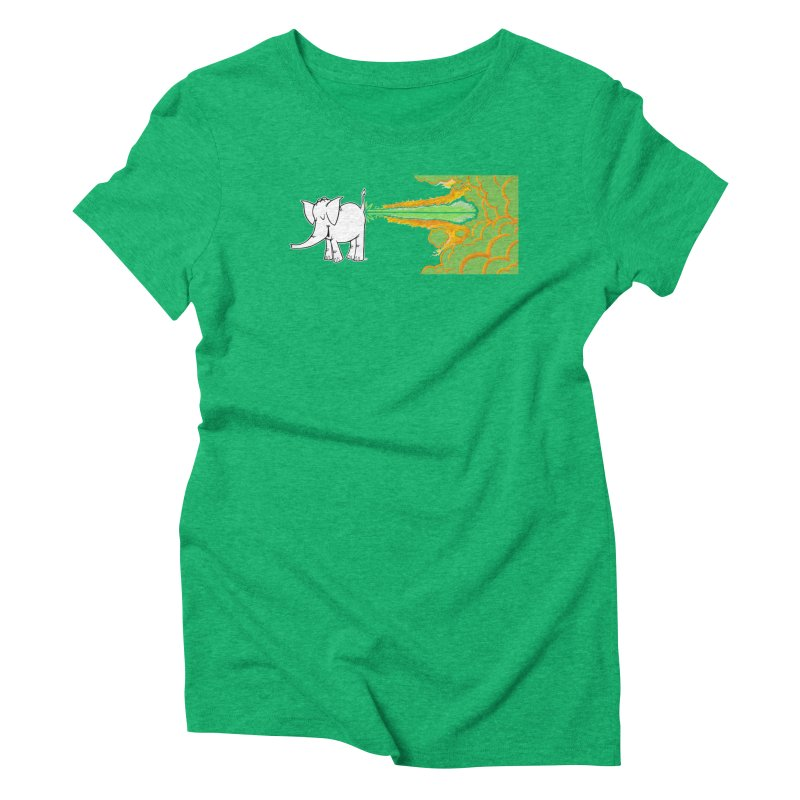 Laser Cy Women's Triblend T-Shirt by Cy The Elephart's phArtist Shop