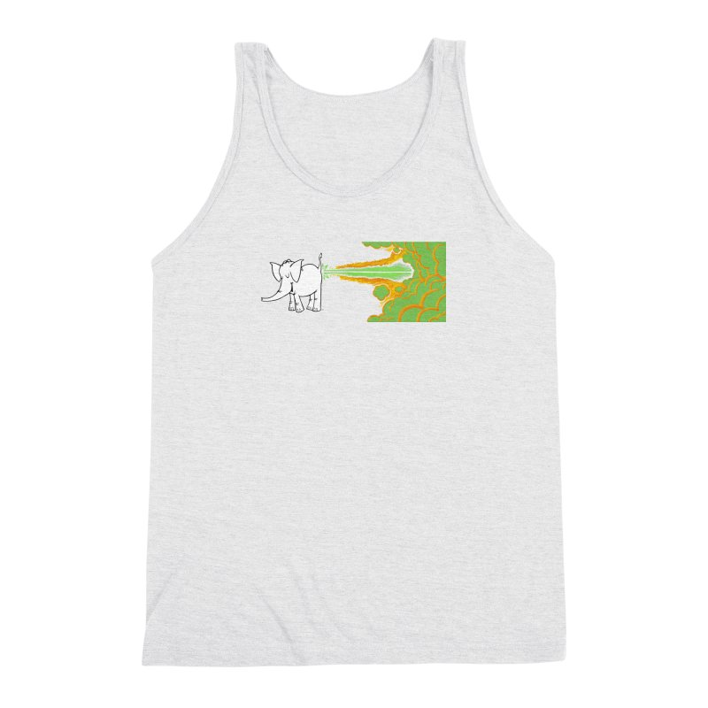 Laser Cy Men's Triblend Tank by Cy The Elephart's phArtist Shop