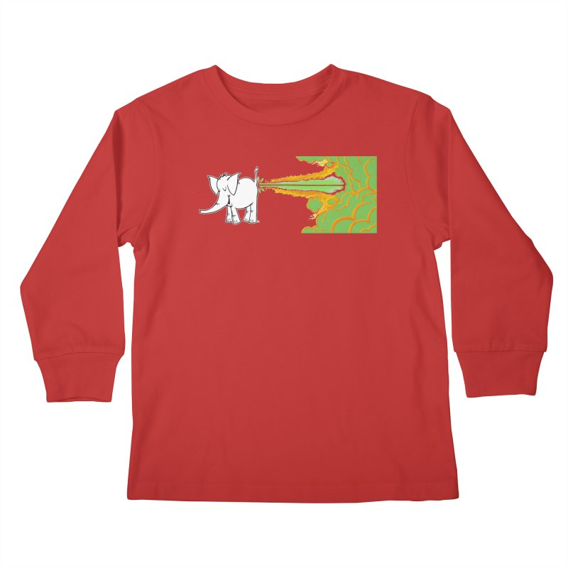 Laser Cy Kids Longsleeve T-Shirt by Cy The Elephart's phArtist Shop