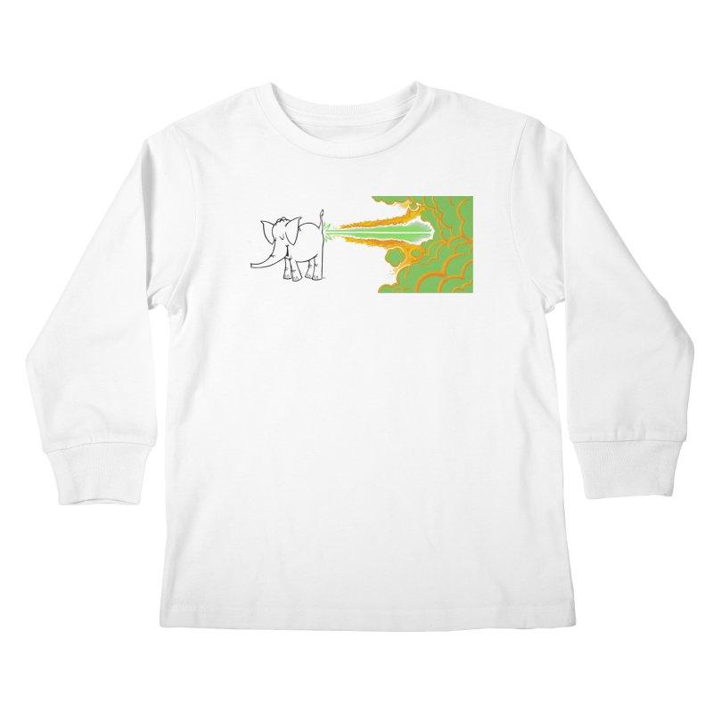 Laser Cy Kids Longsleeve T-Shirt by Cy The Elephart's phArtist Shop