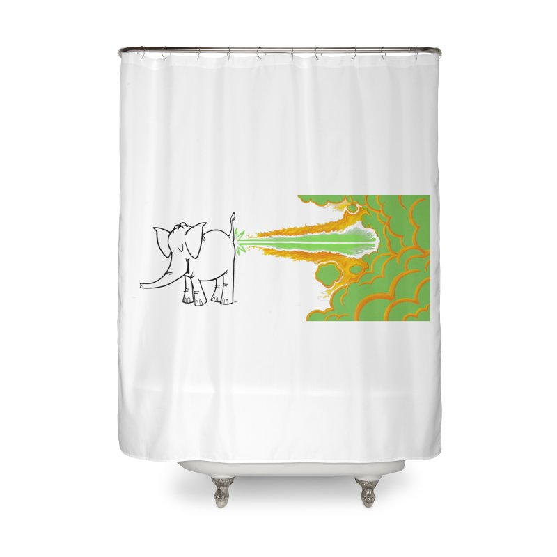 Laser Cy Home Shower Curtain by Cy The Elephart's phArtist Shop