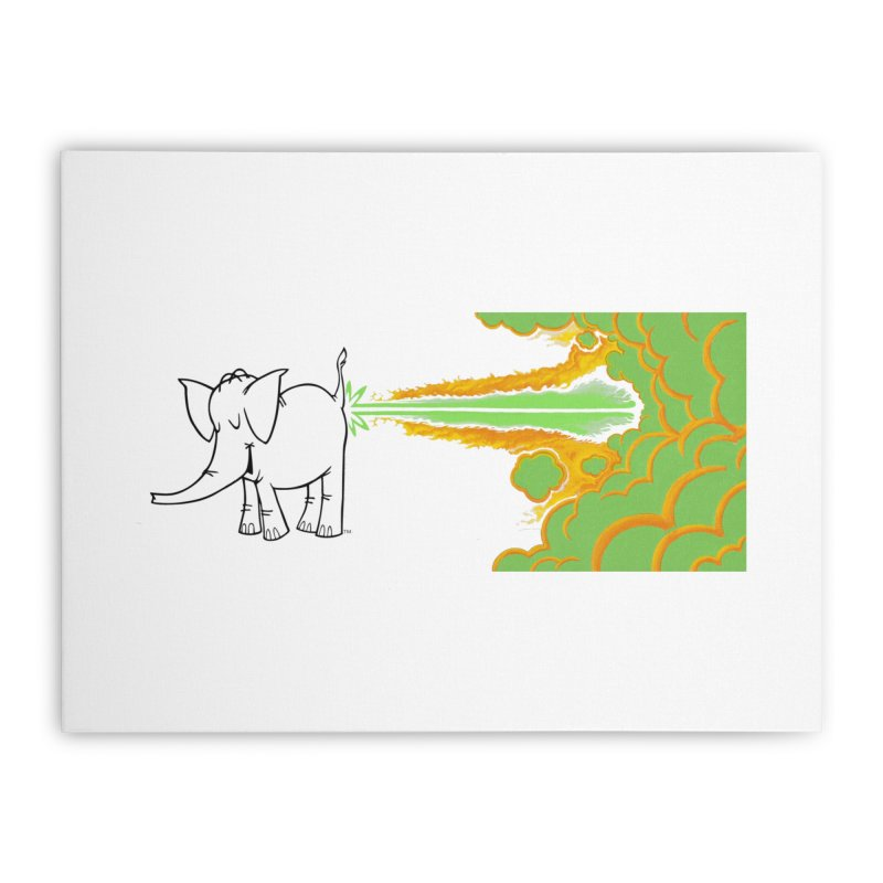 Laser Cy Home Stretched Canvas by Cy The Elephart's phArtist Shop
