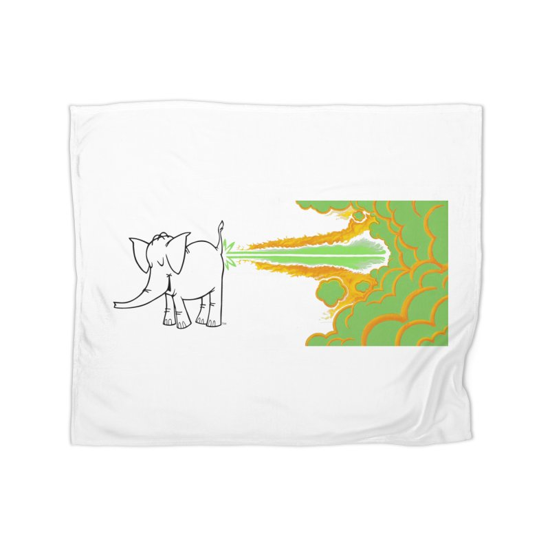 Laser Cy Home Fleece Blanket Blanket by Cy The Elephart's phArtist Shop