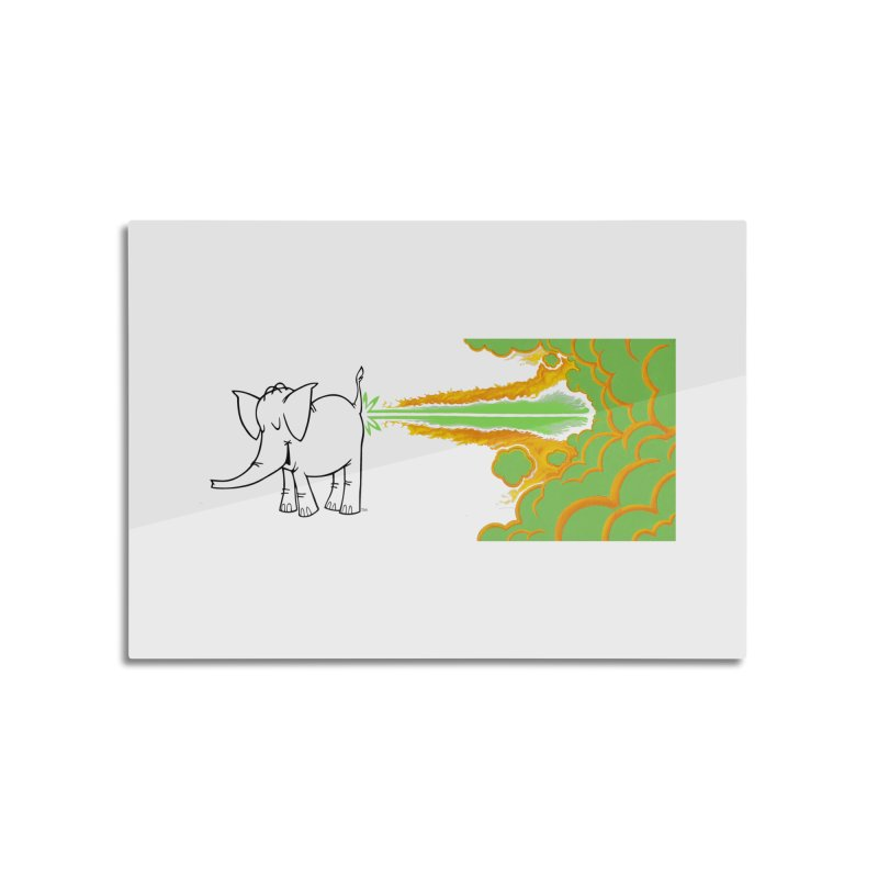Laser Cy Home Mounted Aluminum Print by Cy The Elephart's phArtist Shop