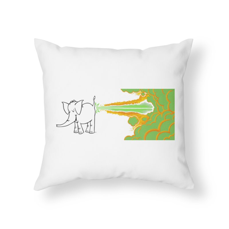 Laser Cy Home Throw Pillow by Cy The Elephart's phArtist Shop