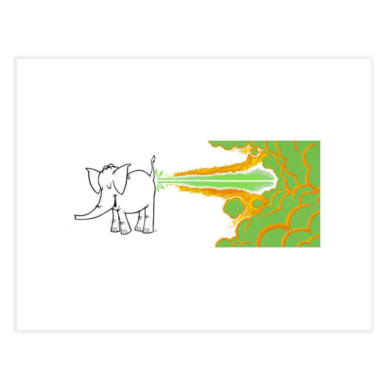 Laser Cy Home Fine Art Print by Cy The Elephart's phArtist Shop