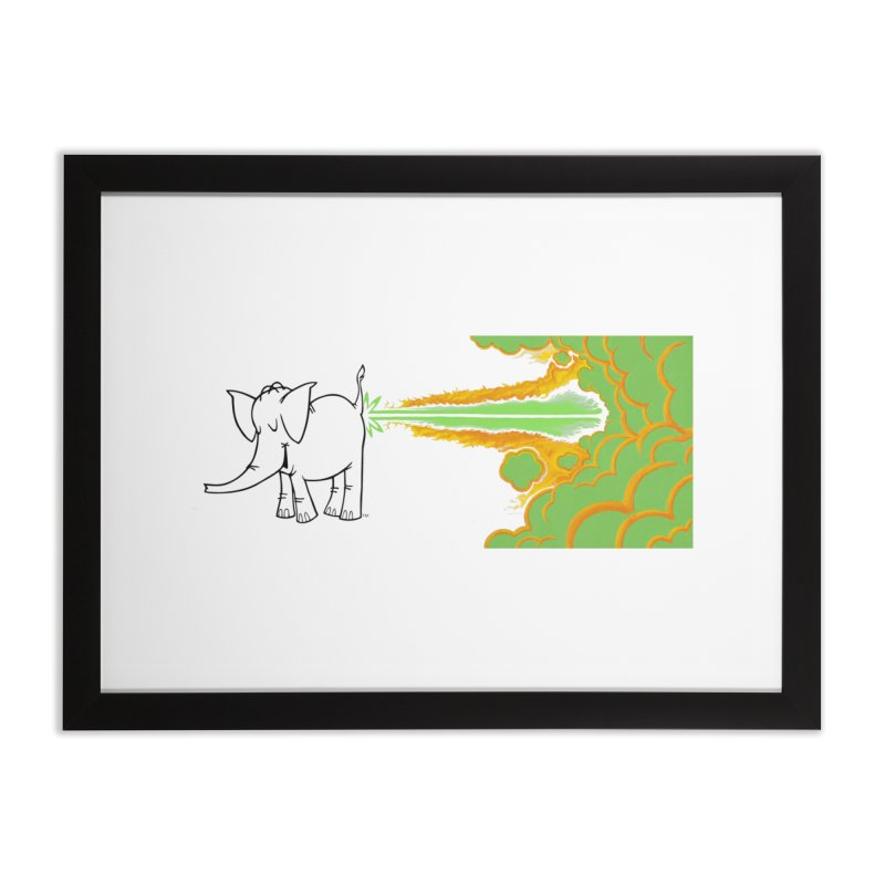 Laser Cy Home Framed Fine Art Print by Cy The Elephart's phArtist Shop