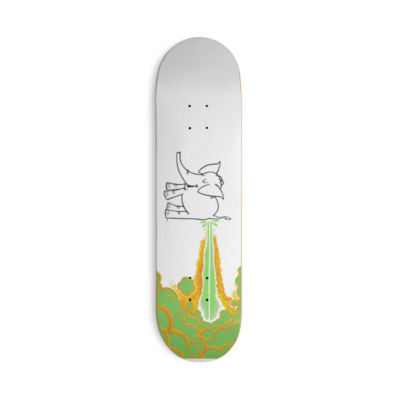 Laser Cy in Deck Only Skateboard by Cy The Elephart's phArtist Shop