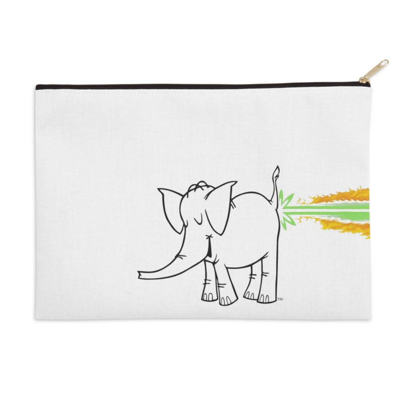 Laser Cy Accessories Zip Pouch by Cy The Elephart's phArtist Shop