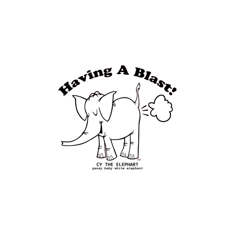 Having A Blast with Cy The Elephart Home Framed Fine Art Print by Cy The Elephart's phArtist Shop
