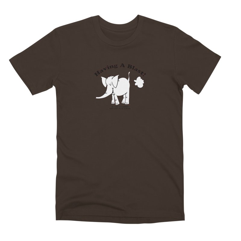 Having A Blast with Cy The Elephart Men's T-Shirt by Cy The Elephart's phArtist Shop