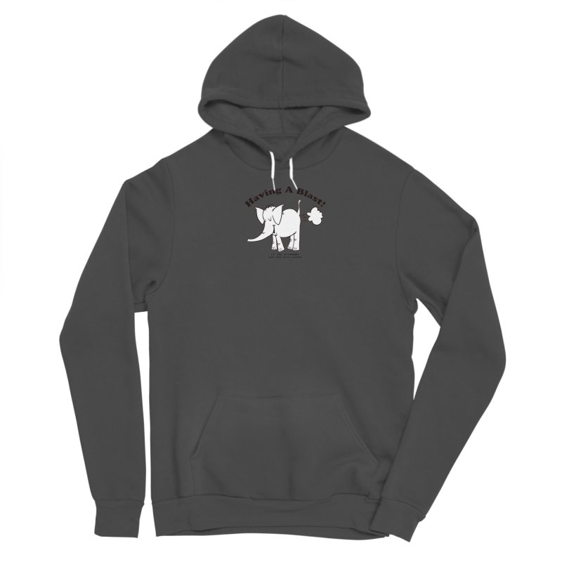 Having A Blast with Cy The Elephart Men's Sponge Fleece Pullover Hoody by Cy The Elephart's phArtist Shop