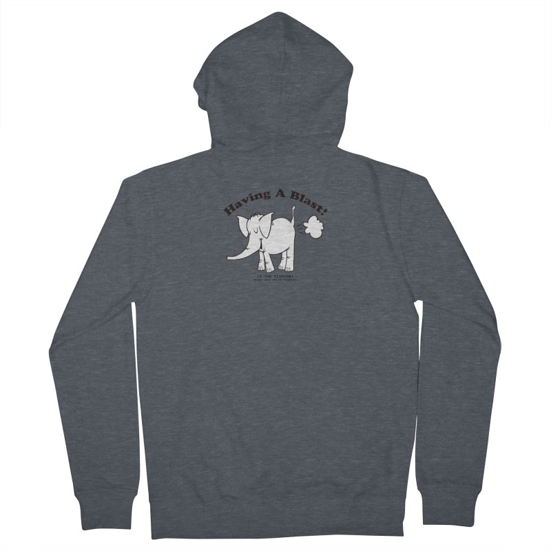 Having A Blast with Cy The Elephart Men's French Terry Zip-Up Hoody by Cy The Elephart's phArtist Shop