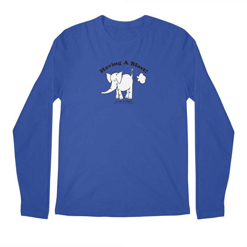 Having A Blast with Cy The Elephart Men's Regular Longsleeve T-Shirt by Cy The Elephart's phArtist Shop