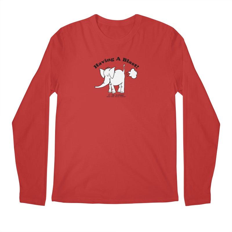 Having A Blast with Cy The Elephart Men's Regular Longsleeve T-Shirt by Cy The Elephart's phArtist Shop