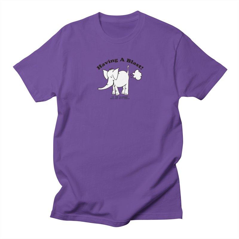Having A Blast with Cy The Elephart Men's Regular T-Shirt by Cy The Elephart's phArtist Shop