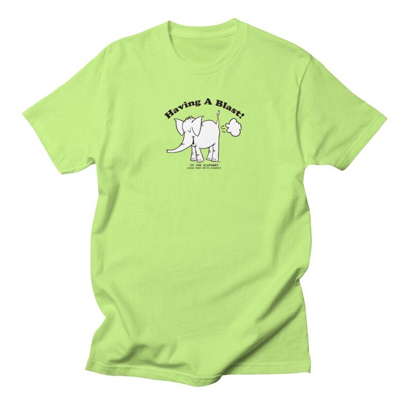 Having A Blast with Cy The Elephart Women's Regular Unisex T-Shirt by Cy The Elephart's phArtist Shop