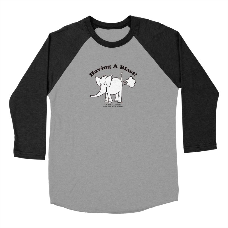 Having A Blast with Cy The Elephart Men's Baseball Triblend Longsleeve T-Shirt by Cy The Elephart's phArtist Shop