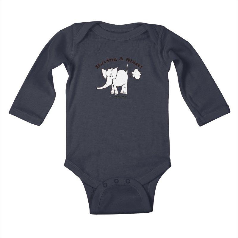 Having A Blast with Cy The Elephart Kids Baby Longsleeve Bodysuit by Cy The Elephart's phArtist Shop