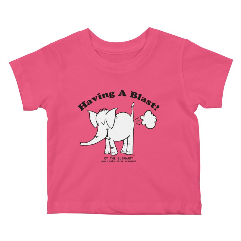 Having A Blast with Cy The Elephart Kids Baby T-Shirt by Cy The Elephart's phArtist Shop