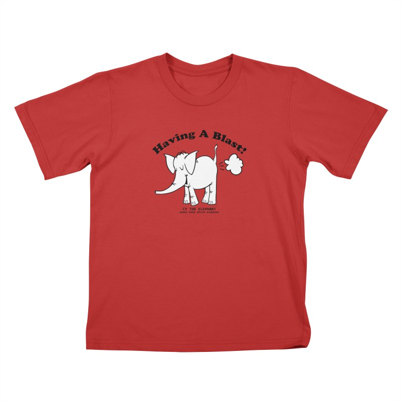 Having A Blast with Cy The Elephart Kids T-Shirt by Cy The Elephart's phArtist Shop