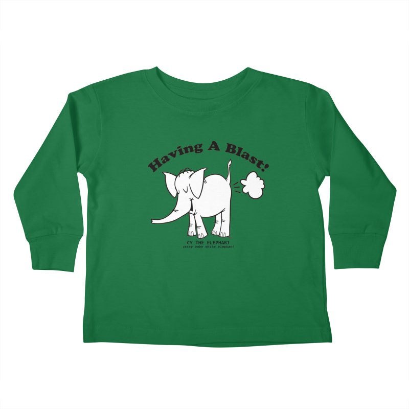 Having A Blast with Cy The Elephart Kids Toddler Longsleeve T-Shirt by Cy The Elephart's phArtist Shop
