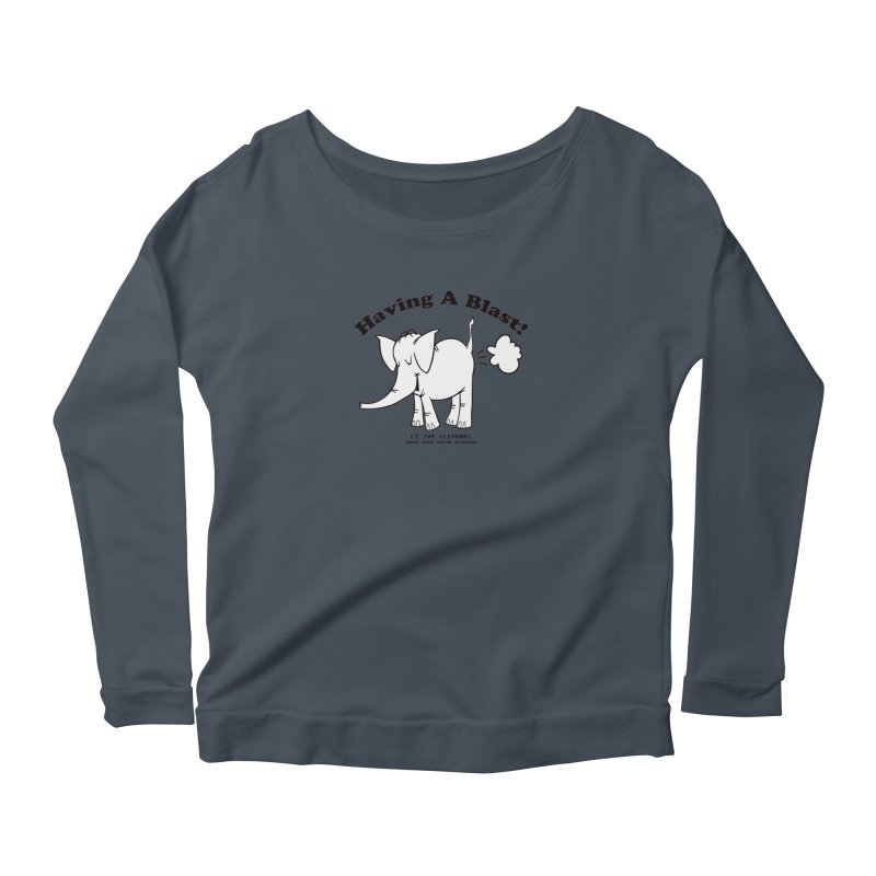 Having A Blast with Cy The Elephart Women's Scoop Neck Longsleeve T-Shirt by Cy The Elephart's phArtist Shop