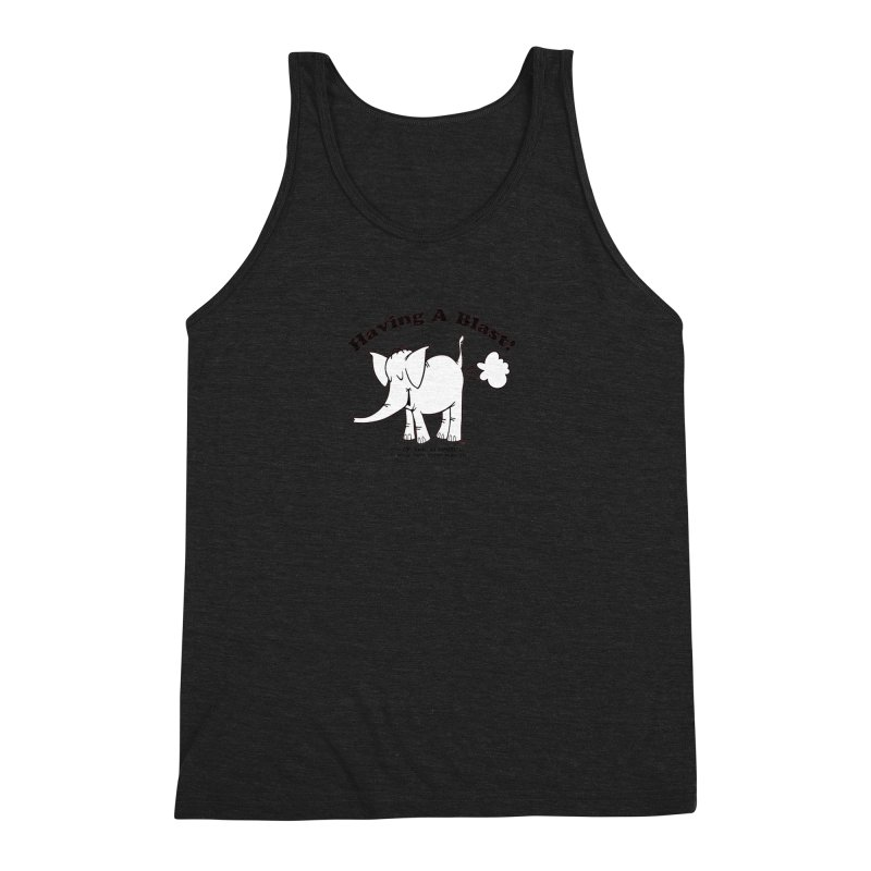 Having A Blast with Cy The Elephart Men's Triblend Tank by Cy The Elephart's phArtist Shop