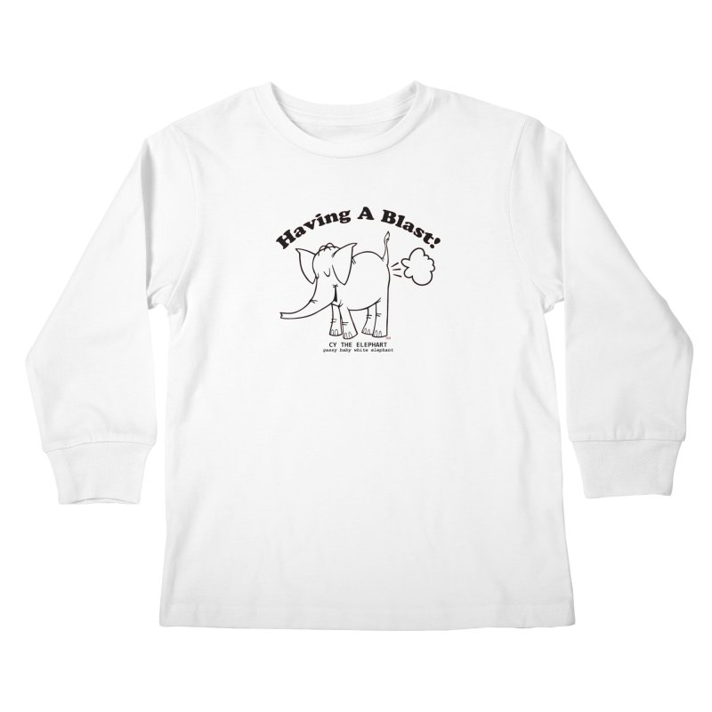 Having A Blast with Cy The Elephart Kids Longsleeve T-Shirt by Cy The Elephart's phArtist Shop