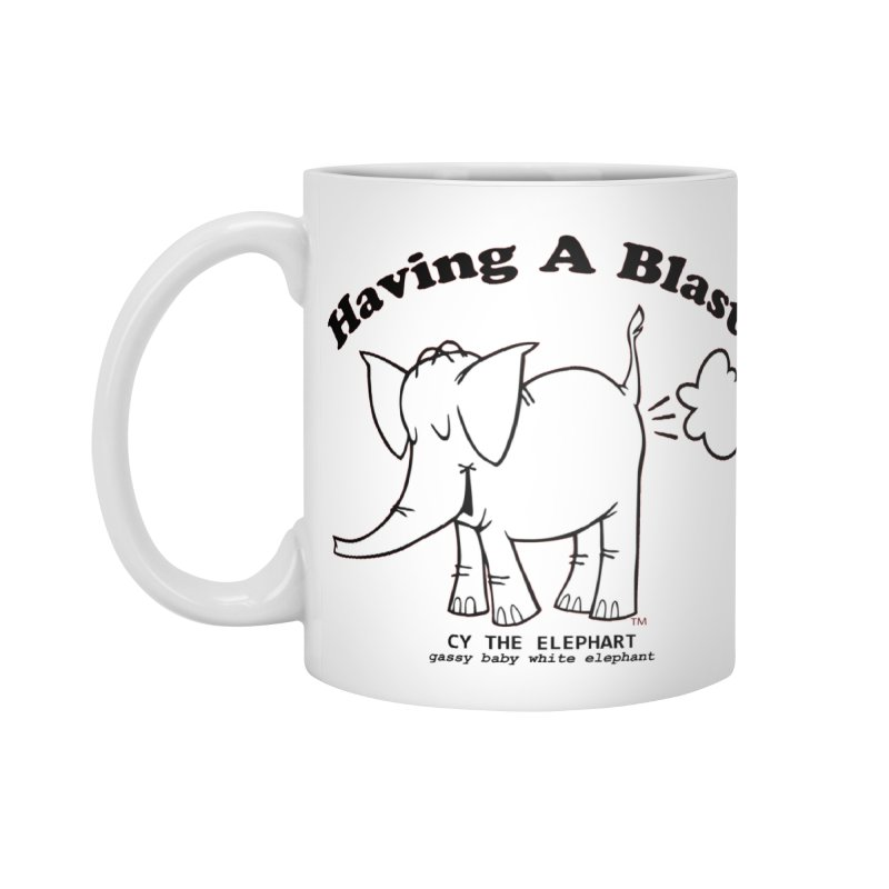 Having A Blast with Cy The Elephart Accessories Standard Mug by Cy The Elephart's phArtist Shop