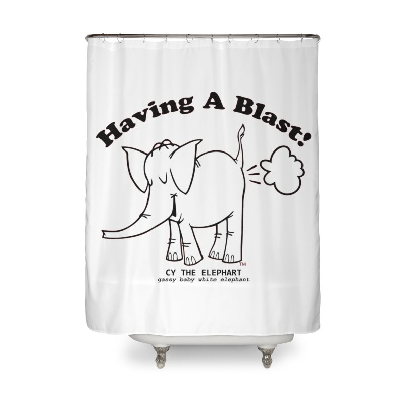 Having A Blast with Cy The Elephart Home Shower Curtain by Cy The Elephart's phArtist Shop