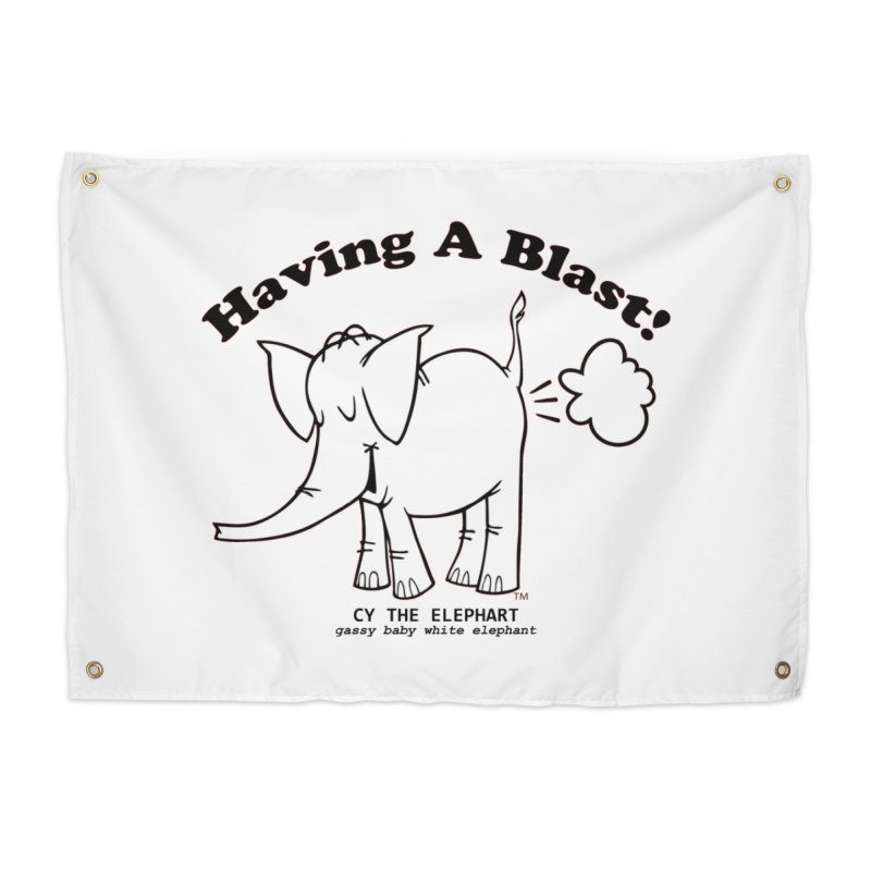 Having A Blast with Cy The Elephart Home Tapestry by Cy The Elephart's phArtist Shop