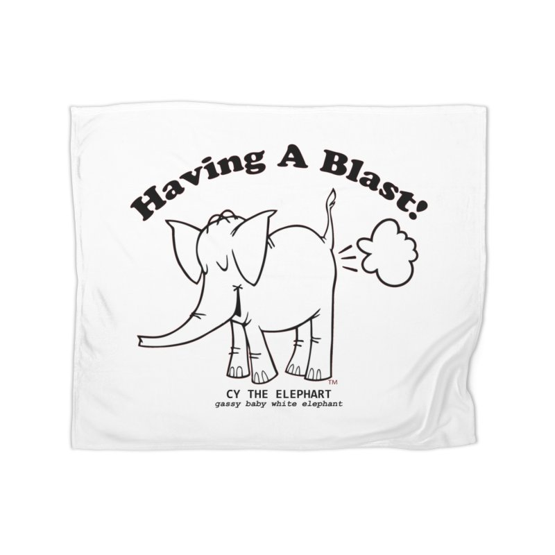 Having A Blast with Cy The Elephart Home Fleece Blanket Blanket by Cy The Elephart's phArtist Shop